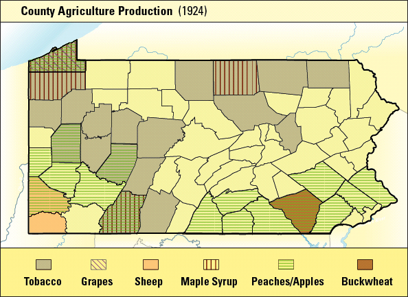 1929 Farming Area map.