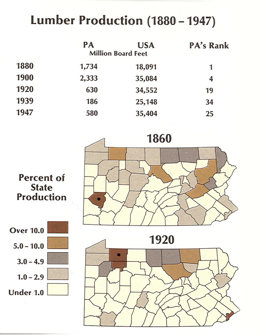 ExplorePAHistorycom Image - Us lumber industry map 1900