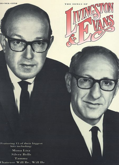 Cover of the sheet music with photograph of Livingston and Evans