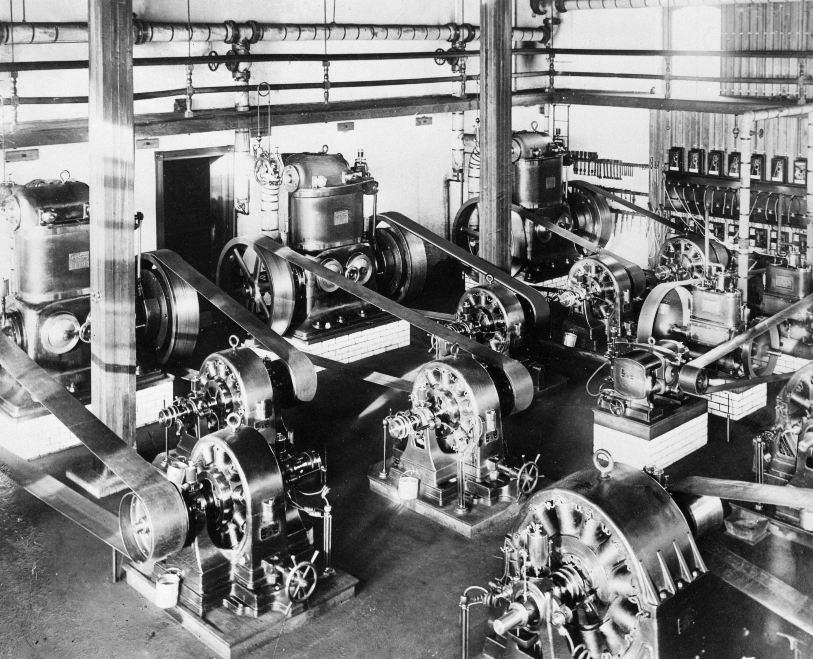 Image What Is A Electrical Plant Early Alternating Current Ac Generators In Westinghouse Electric Power Circa